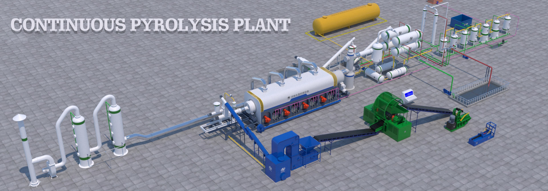 continuous pyrolysis plant