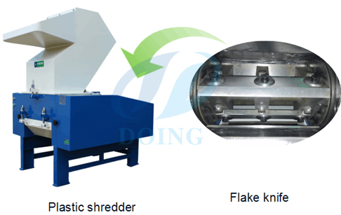 Plastics shredder