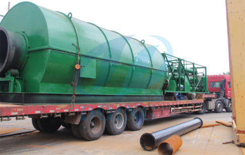 10tons pyrolysis plastic to oil recycling processing plant delivery to Italy