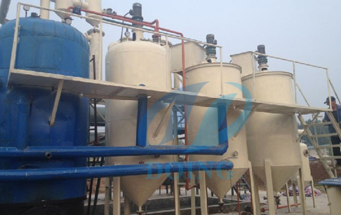Palestine waste engine oil distillatin plant project