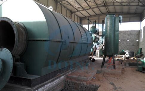 The waste tyre to fuel recycling pyrolysis plant Installation in Egypt