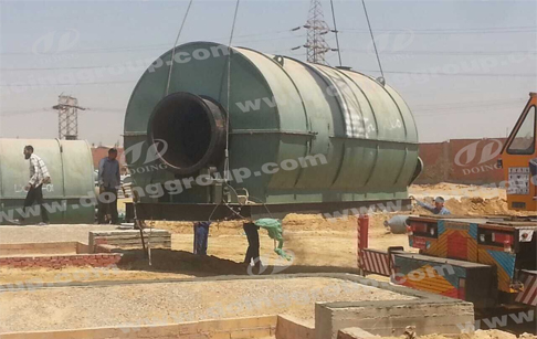 2 sets 10tons pyrolysis plant for tires Installation Site in Egypt