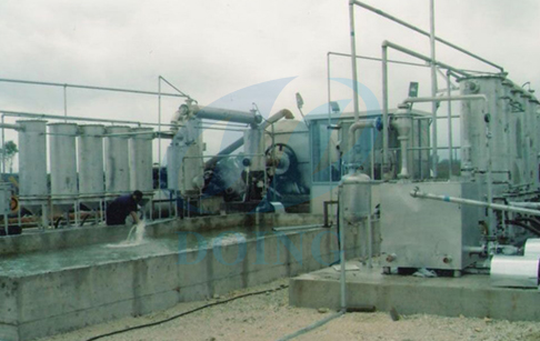 Albania customer running 2 sets' used tire pyrolysis plant
