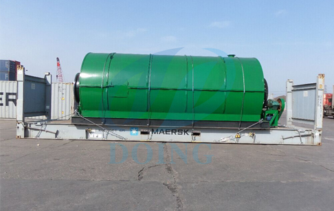 Macedonia successful installation case of waste tire/plastic pyrolysis plant