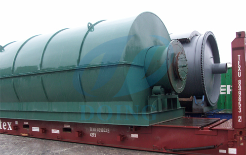 Two sets waste tyre pyrolysis p