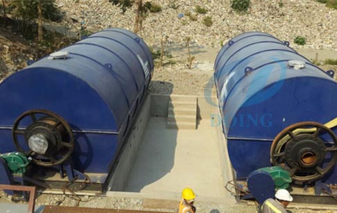 Guatemala Installing waste used tyre recycling pyrolysis plant