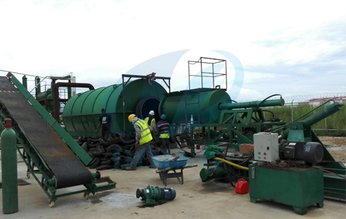 To install waste tire/tyre recycling pyrolysis machines for Panama customers