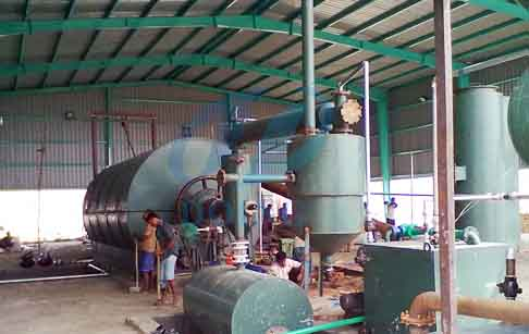 Waste tyre to fuel oil pyrolysis plant project Bangladesh