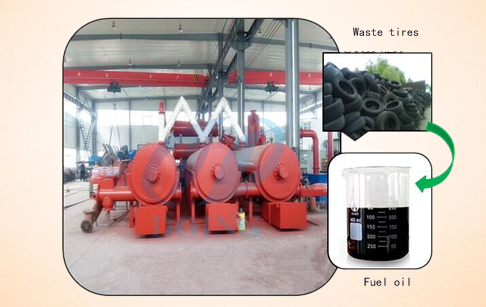 Continuous model waste tyre pyrolysis plant