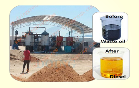 Waste oil to diesel fuel machine