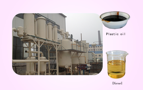 Used oil to diesel oil plant