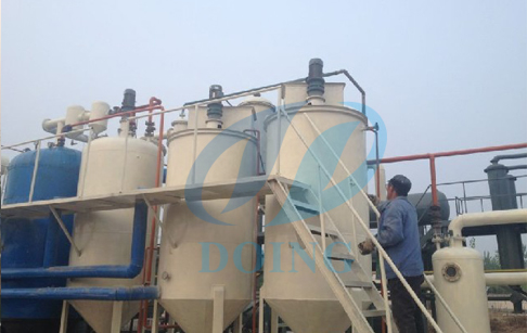 Waste crude oil to diesel machine