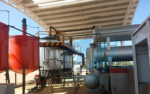 Waste tyre oil to diesel oil plant