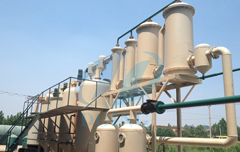Tire oil to diesel refining plant