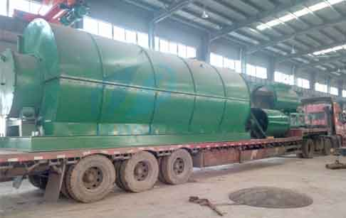 Waste tyre to fuel oil yrolysis plant and waste oil distillation plant will delivery to Chile