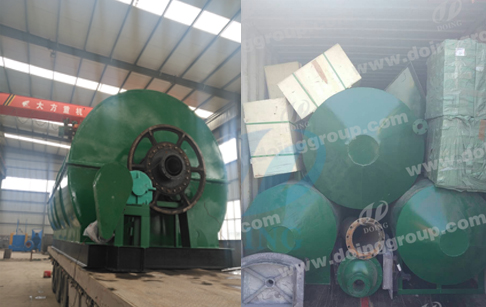 Used tyre pyrolysis continuous process plant delivery to Nigeria