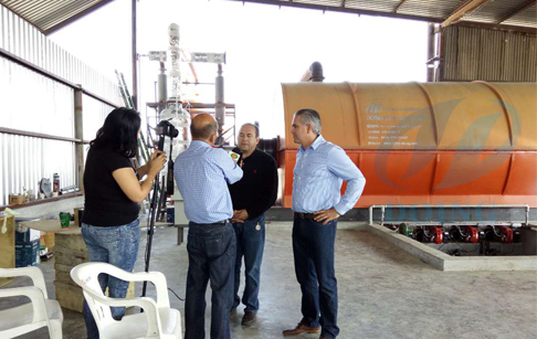 Fully continuous process tyre pyrolysis plant installed in Mexico by reported video