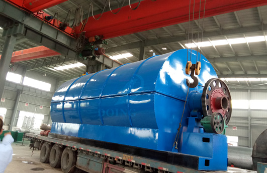 12T continuous waste tyre pyrolysis plant delivered to Czech