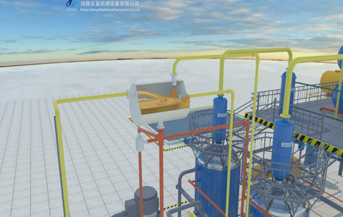 Tyre pyrolysis oil to diesel distillation plant