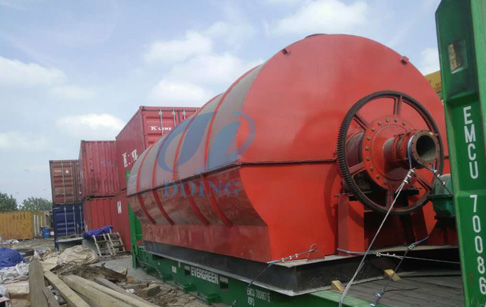 Two sets 10T continuous waste tyre yrolysis plant for Egypt customer finished delivery