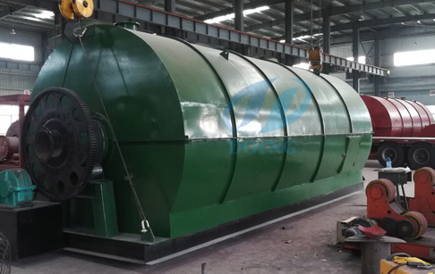 Continuous pyroysis plant for recycling waste tyre /palstic to fuel oil  will delivery to Panama