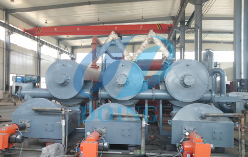 Continuous process tire pyrolysis plant
