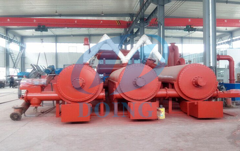 What is the working process of continuous tire pyrolysis plant?