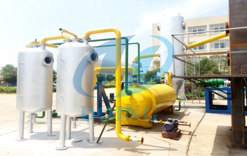 Waste tire pyrolysis continuous mach