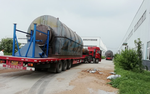 2 sets 12T/D waste tyre to fuel oil plants delivery to Guangdong customer