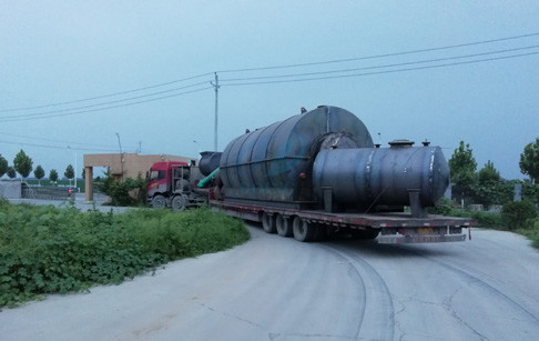 12t/d used tyre pyrolysis plant sent to sanmenxia