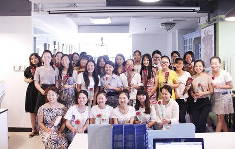 Thanks for the roses and chocolates to our girls on Chinese Valentine's Day