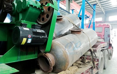 Congratulations on the delivery of 2sets 12T/D waste tyre recycling plants to Hebei