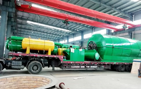 12T/D waste tire to fuel pyrolysis plant delivered to Nigerian customer