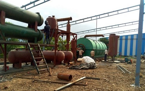 Waste plastic to oil pyrolysis plant successfully installed in India