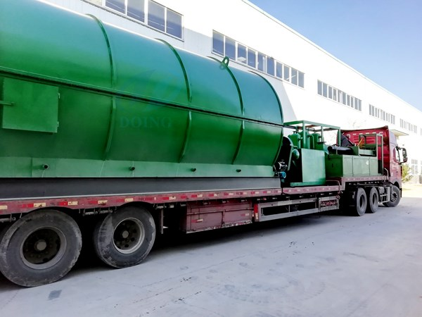 congratulations on the delivery of waste tyre to oil pyrolysis plant to india