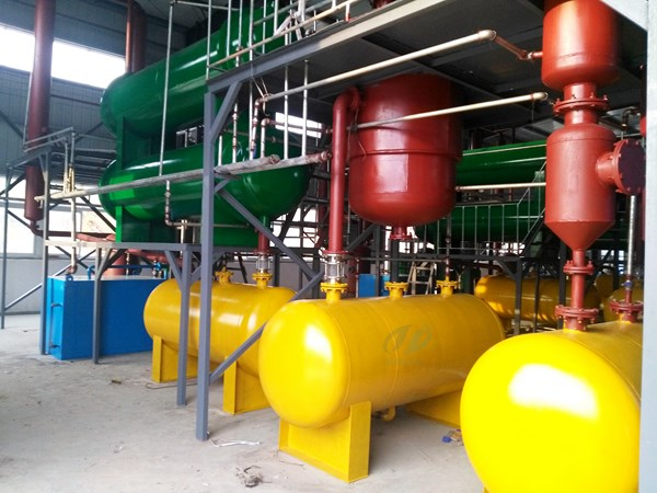 4 sets tyre pyrolysis plants for sale successfully installed in hubei china