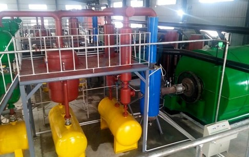 4 sets tyre pyrolysis plants for sale successfully installed in Hubei, China