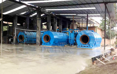 2 sets waste tyre recycling pyr