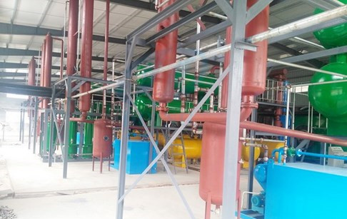 4 sets waste tyre to oil pyrolysis plants installed in Hubei, China