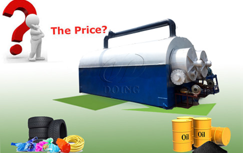 Continuous waste tyre pyrolysis plant price