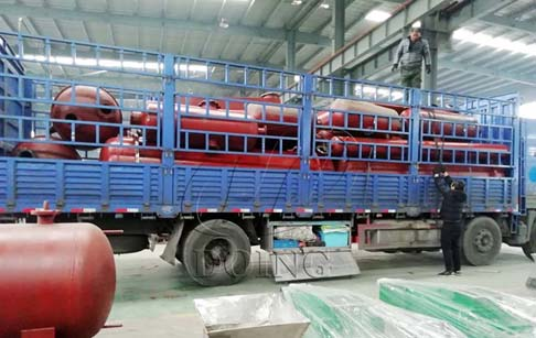 Waste tyre to oil pyrolysis machines delivered to Nigeria