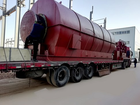Two sets 12T/D scrap tyre pyrolysis plants delivered to Vietnam