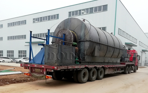 Two sets 12T/D tyre recycling pyrolysis plants delivered to Liaoning, China