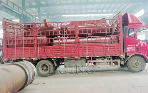 One set 12T/D waste tyre to oil recycle plant delivered to Shandong, China
