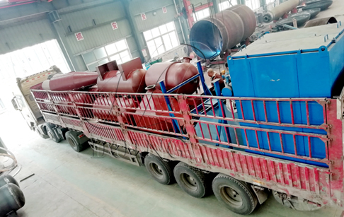 One set 12T/D waste tyre recycling pyrolysis plant delivery to Guangxi, China