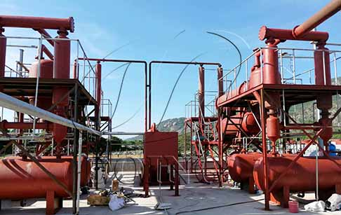 Two sets of 12T/D scrap tyre pyrolysis equipment project established in Vietnam
