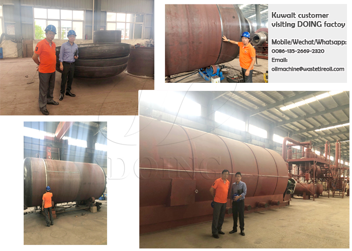 Kuwait continuous tyre pyrolysis plant