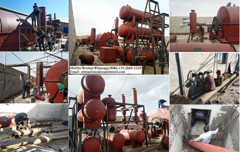 20TPD waste tyre to oil plant project was installed in Inner Mongolia, China