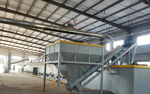 100TPD continuous waste tyre pyrolysis plant was put into production in China