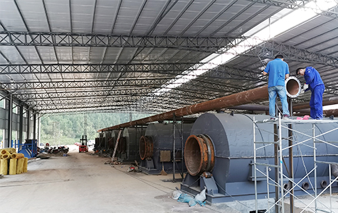 72TPD waste tire pyrolysis equipment project in Peru